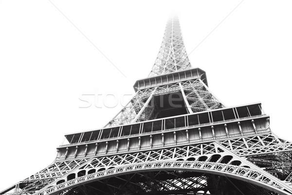 Eiffel Tower in greyscale Stock photo © lubavnel