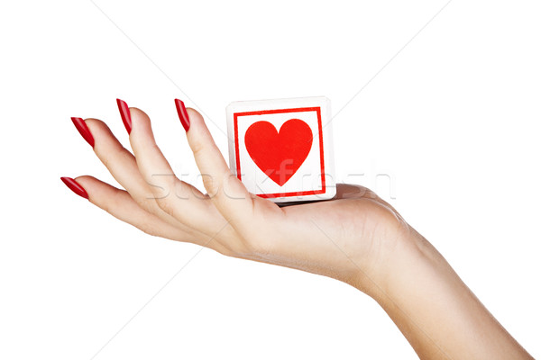young woman's hand closeup Stock photo © lubavnel