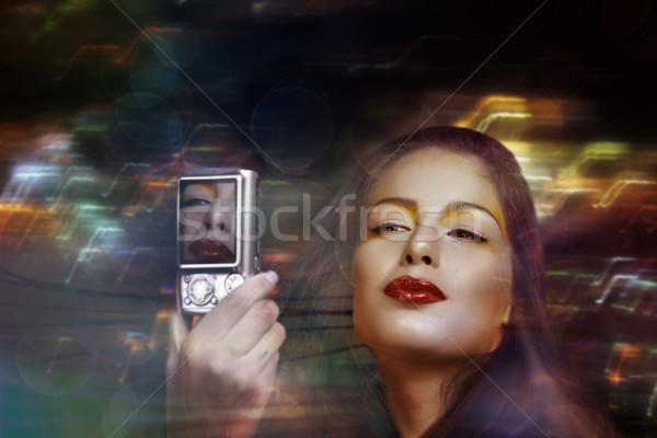Beautiful brunette woman Stock photo © lubavnel