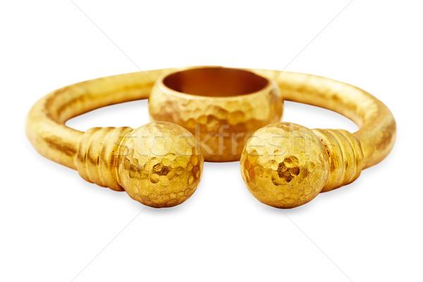 золото браслет кольца стиль твердый Сток-фото © lubavnel