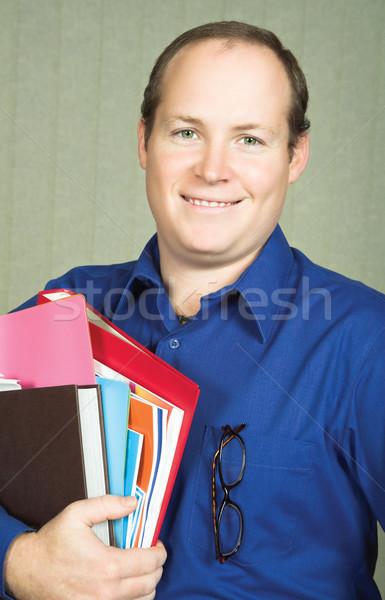 учитель книгах молодые мужчины файла Сток-фото © lubavnel