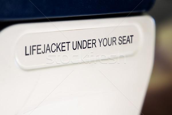 lifejacket sign Stock photo © lubavnel