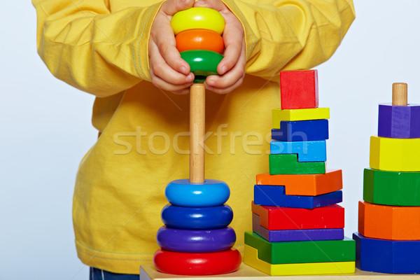 Сток-фото: мальчика · играет · пирамида · мало · год · старые