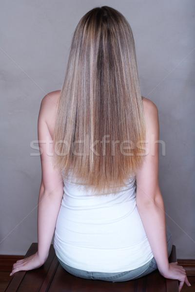 Blond long hair. Stock photo © lubavnel