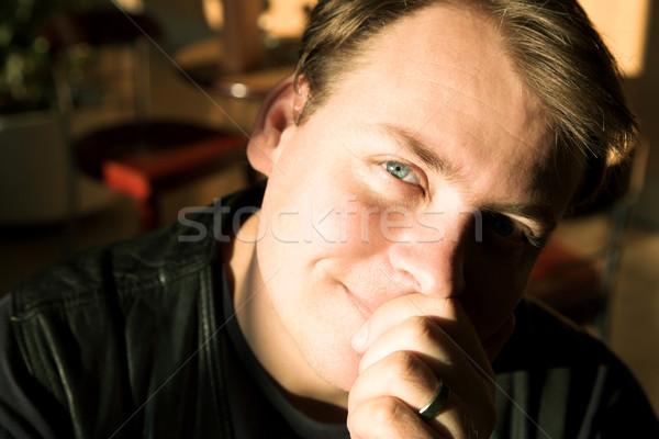 молодым человеком портрет человека сидят Сток-фото © lubavnel