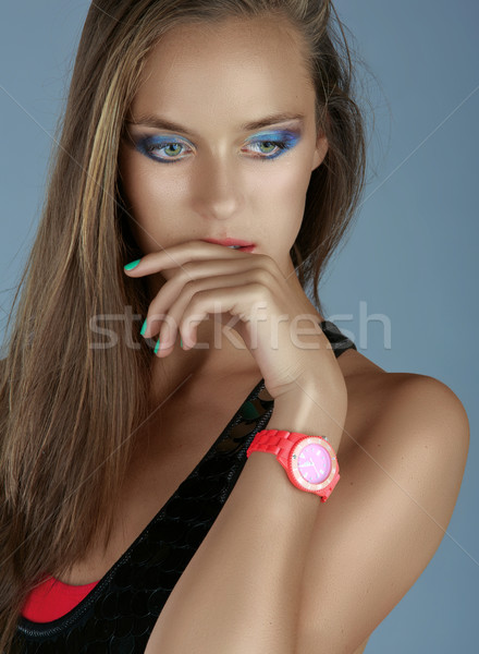 portrait of a beautiful tanned woman Stock photo © lubavnel