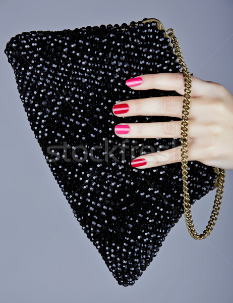 pink and red manicure Stock photo © lubavnel