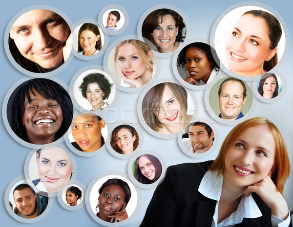 social network of businesswoman. Stock photo © lubavnel