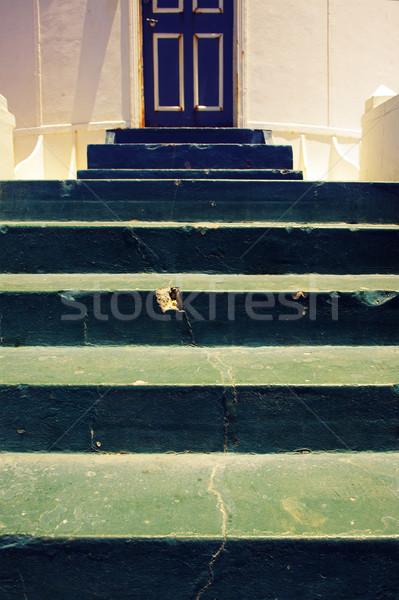 Lighthouse entrance with old steps Stock photo © lubavnel