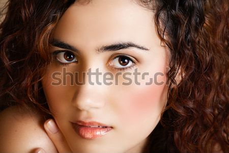 woman with golden make-up Stock photo © lubavnel
