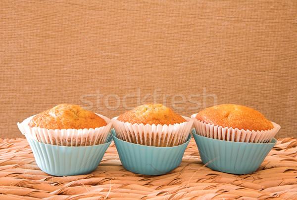 Three carrot muffins  Stock photo © lubavnel