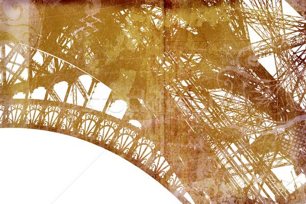 Grunge Eiffel Tower detail Stock photo © lubavnel