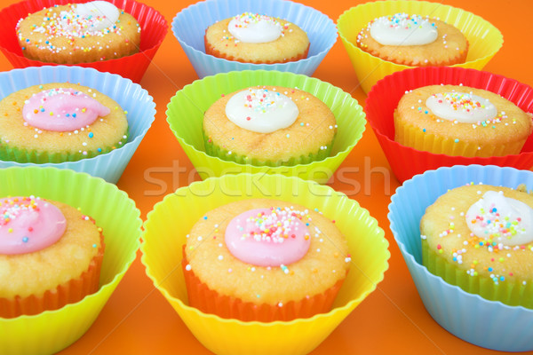Small party cakes with icing sugar Stock photo © lubavnel