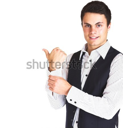 man in shirt and vest Stock photo © lubavnel