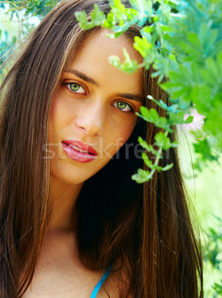 young teenage woman outdoors Stock photo © lubavnel