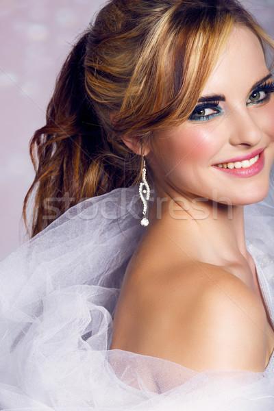 happy bride Stock photo © lubavnel