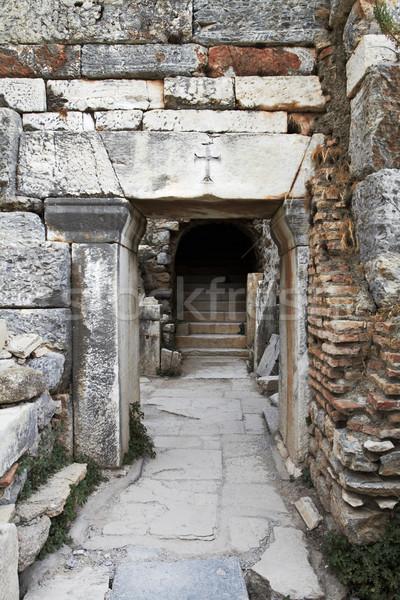 Ancient Christian doorway. Stock photo © lubavnel