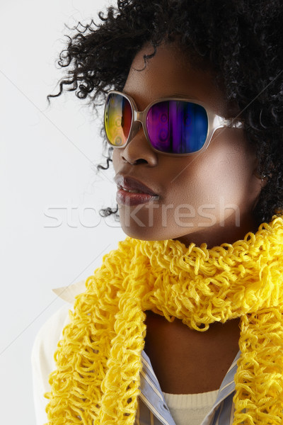 African disco woman. Stock photo © lubavnel