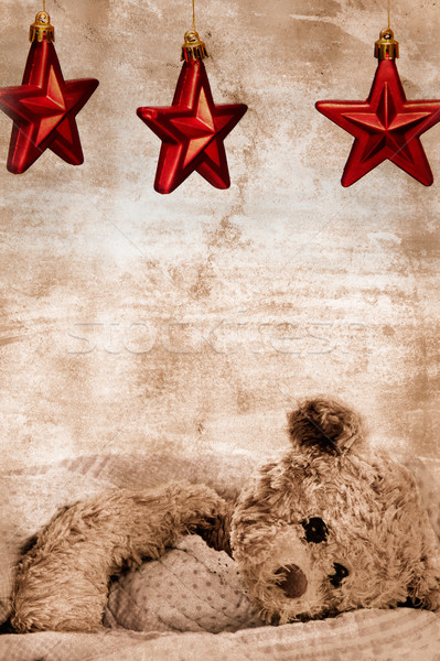 Stock photo: teddy bear and stars