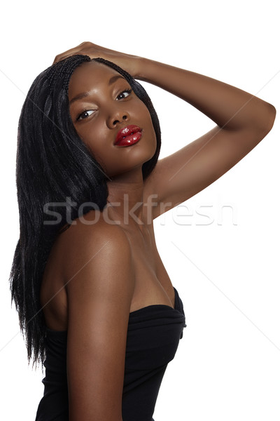 Africaine belle femme cheveux longs portrait belle afrique du sud Photo stock © lubavnel