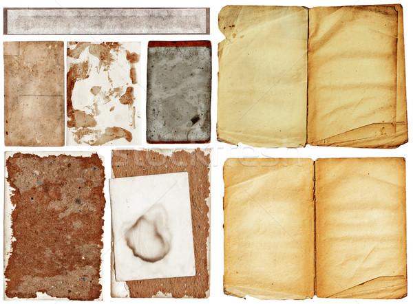 grunge papers collection. Stock photo © lubavnel