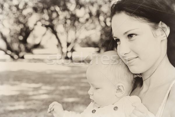 мальчика матери ребенка сын парка Сток-фото © lubavnel