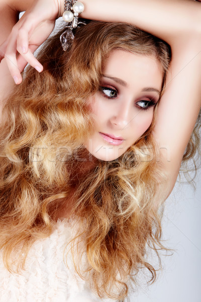 blond woman with big hair Stock photo © lubavnel