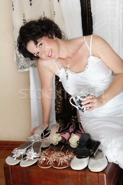 Woman and shoes. Stock photo © lubavnel