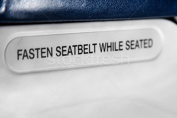 seatbelt sign Stock photo © lubavnel