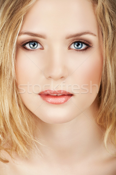 Beautiful blond woman. Stock photo © lubavnel