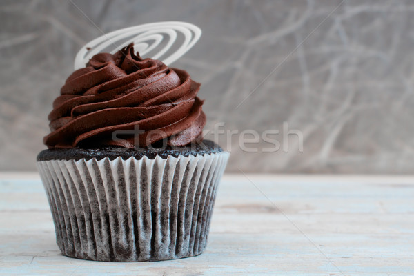 Creamy chocolate cupcake Stock photo © lubavnel