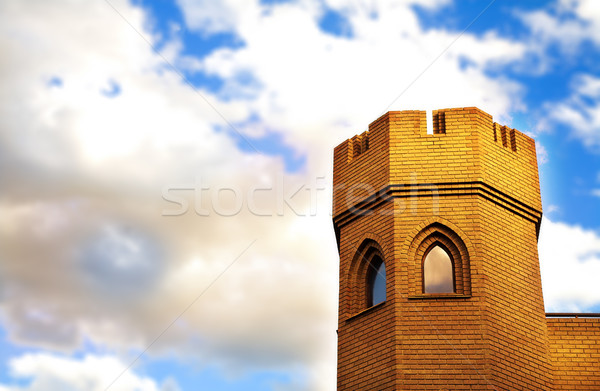 Brick tower of medieval castle Stock photo © lubavnel