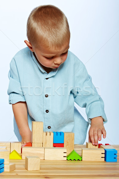 Сток-фото: мальчика · играет · блоки · мало · год · старые
