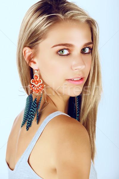 красивой женщину волос Сток-фото © lubavnel