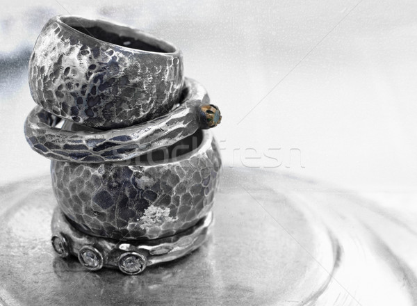 vintage wedding rings Stock photo © lubavnel