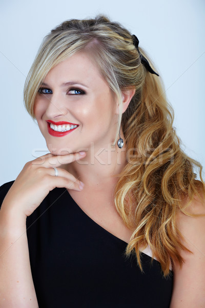 blond in party dress Stock photo © lubavnel