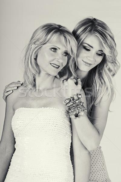 матери дочь белый красивой макияж долго Сток-фото © lubavnel