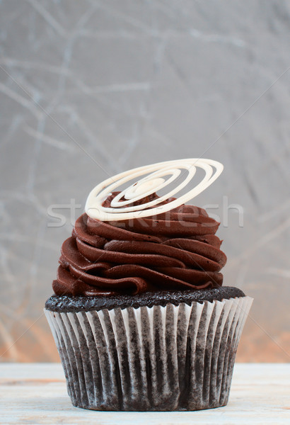 Creamy chocolate cupcake Stock photo © lubavnel