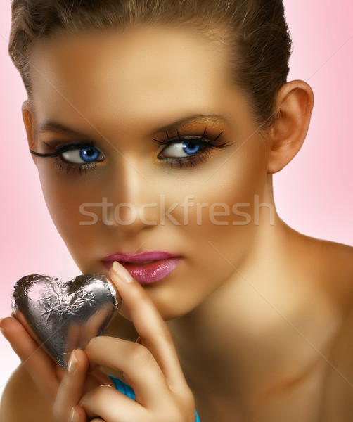 blond with heart. Stock photo © lubavnel