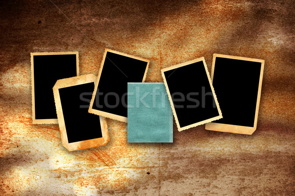 photographic borders on grunge wall Stock photo © lubavnel