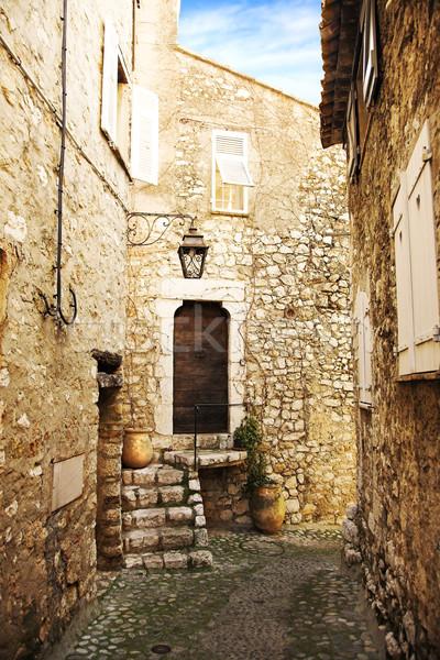 Romantic village street Stock photo © lubavnel