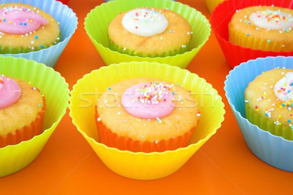 Parte tortas pantalla azúcar brillante plástico Foto stock © lubavnel