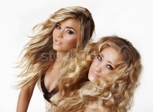 Blond zusters twee mooie vrouw haren Stockfoto © lubavnel