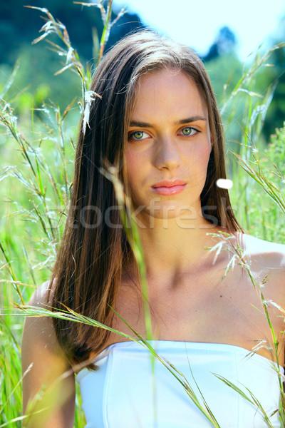 Jóvenes mujer aire libre grave hermosa Foto stock © lubavnel