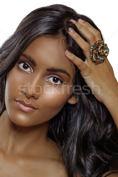 tanned beauty with a ring Stock photo © lubavnel