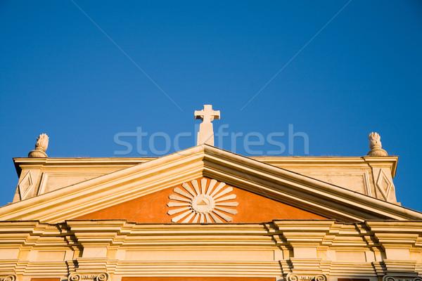 christian chapel roof Stock photo © lubavnel