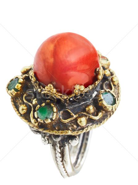 золото серебро турецкий кольца коралловые дизайна Сток-фото © lubavnel