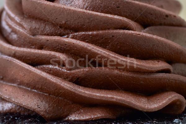 Kremowy mus czekoladowy czekolady krem strony Zdjęcia stock © lubavnel
