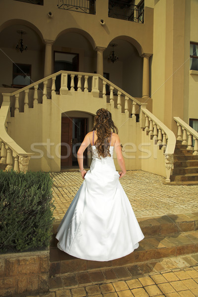 Beautiful Tuscan bride with brown hair Stock photo © lubavnel