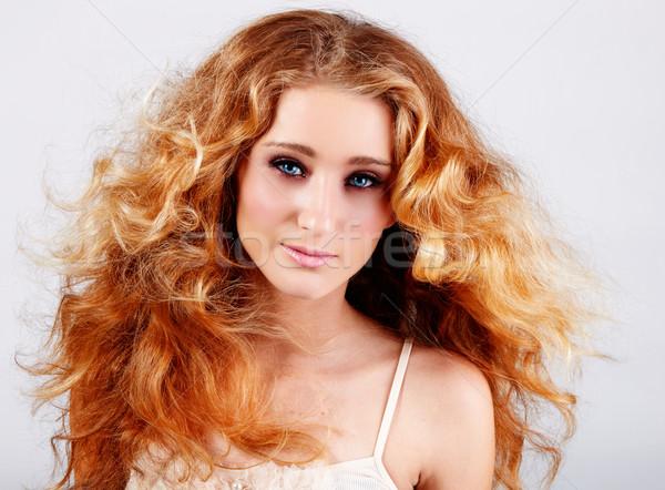 red hair girl Stock photo © lubavnel